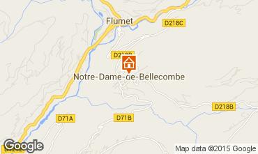 Mapa Notre Dame de Bellecombe Apartamentos 97632
