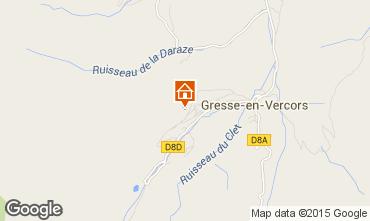 Mapa Gresse en Vercors Est�dio 28748