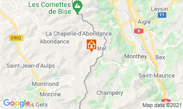 Mapa Châtel Apartamentos 59899