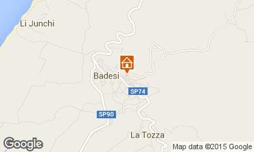 Mapa Badesi Apartamentos 33840