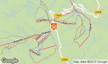 Mapa La Foux d'Allos Apartamentos 102908