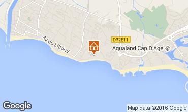 Mapa Cap d'Agde Mobil Home 102695