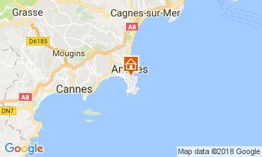 Mapa Juan les Pins Apartamentos 113037