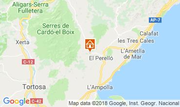 Mapa La Ametlla de Mar Casa de turismo rural/Casa de campo 110680