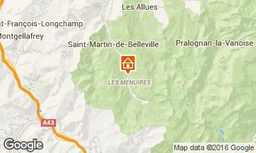 Mapa Les Menuires Chalé 102203