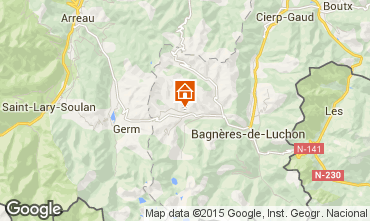 Mapa Luchon Superbagneres Chal� 57698