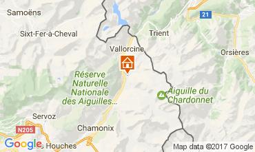 Mapa Chamonix Mont-Blanc Chalé 706