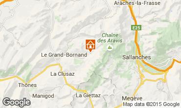 Mapa Le Grand Bornand Apartamentos 101025