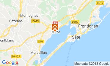 Mapa Mèze Apartamentos 115796