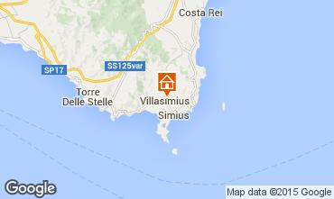 Mapa Villasimius Apartamentos 95140