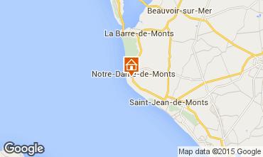 Mapa Notre Dame de Monts Casa 18224
