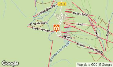 Mapa Les 2 Alpes Apartamentos 1167