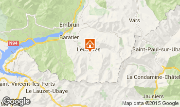 Mapa Les Orres Apartamentos 28820