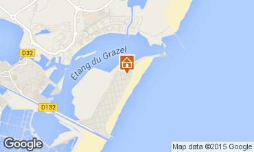Mapa Gruissan-Plage Est�dio 75969