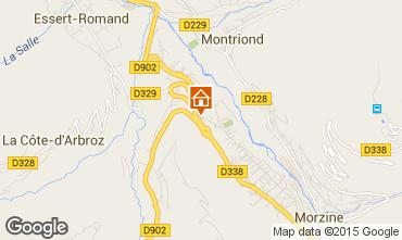 Mapa Morzine Apartamentos 82300