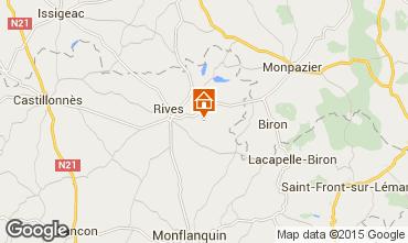 Mapa Monpazier Casa de turismo rural/Casa de campo 28762