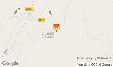 Mapa Superd�voluy- La Joue du Loup Chal� 15474