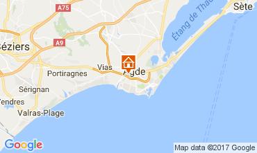 Mapa Agde Apartamentos 62057