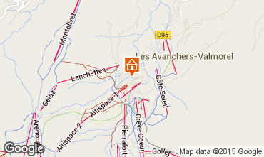 Mapa Valmorel Apartamentos 80718
