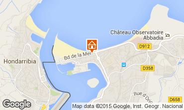 Mapa Hendaye Apartamentos 99522