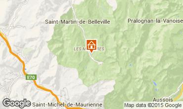 Mapa Les Menuires Apartamentos 1610