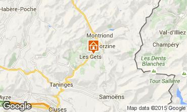 Mapa Les Gets Chalé 80003