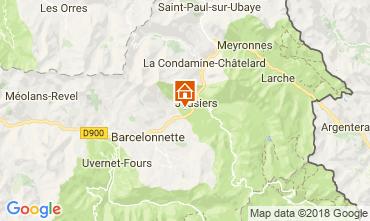 Mapa Jausiers Chalé 113520