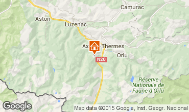 Mapa Ax Les Thermes Apartamentos 27803