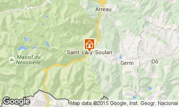 Mapa Saint Lary Soulan Est�dio 4436