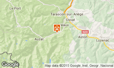 Mapa Ussat les Bains Casa de turismo rural/Casa de campo 72667