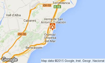 Mapa Oropesa del Mar Apartamentos 86575