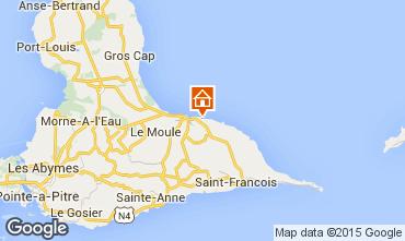 Mapa Le Moule Casa de turismo rural/Casa de campo 100653