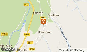 Mapa Saint Lary Soulan Casa de turismo rural/Casa de campo 61378