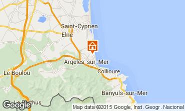 Mapa Argeles sur Mer Apartamentos 9797
