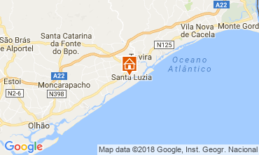 Mapa Tavira Apartamentos 115627