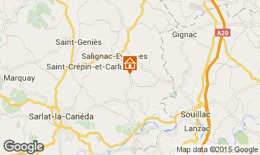 Mapa Salignac-Eyvignes Casa 83784