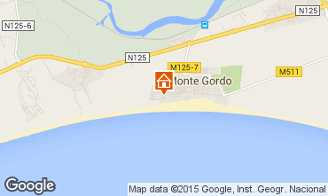 Mapa Monte Gordo Apartamentos 80752