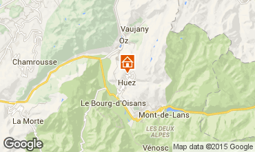 Mapa Alpe d'Huez Chalé 108