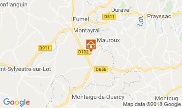 Mapa Tournon d'Agenais Casa de turismo rural/Casa de campo 117004