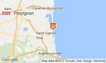 Mapa Saint Cyprien Plage Apartamentos 106514