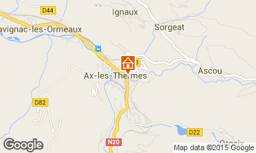 Mapa Ax Les Thermes Apartamentos 52894