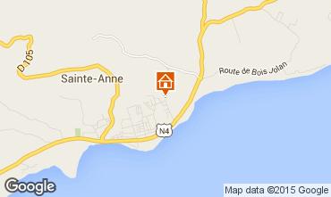 Mapa Sainte Anne (Guadalupe) Casa de turismo rural/Casa de campo 71841