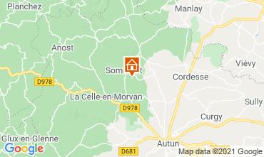 Mapa Autun Casa de turismo rural/Casa de campo 112325