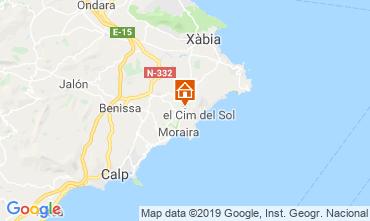 Mapa Moraira Bungalow 71907