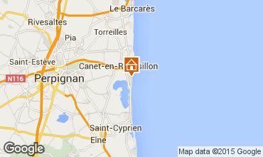 Mapa Canet-en-Roussillon Apartamentos 68584