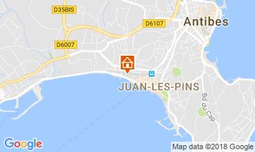 Mapa Juan les Pins Apartamentos 10385