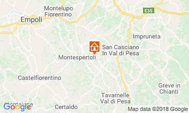 Mapa Montespertoli Bungalow 115969