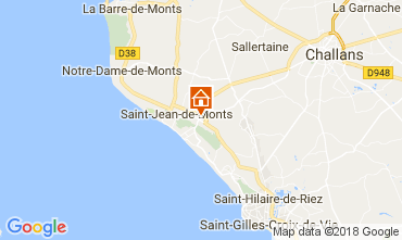 Mapa Saint Jean de Monts Mobil Home 110318