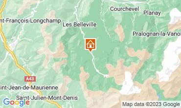 Mapa Les Menuires Chalé 111406