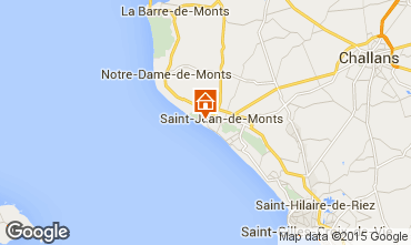 Mapa Saint Jean de Monts Vivenda 66656